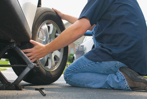 tire puncture and blow out roadside assistance